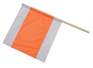 Warnflagge weiß-orange-weiß