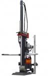 Greenbase Langholzspalter: Holzspalter Titanium 14E, 13to Spaltkraft, Fangarm, Scheibegriff, Spalthöhe 105cm