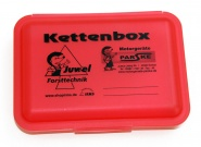 Juwel Kettenbox - sichere Aufbewahrung für Sägeketten Kettenbox rot