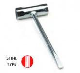 Oregon 17x19mm Zündkerzenschlüssel passend für Dolmar, Oleo-Mac, Stihl