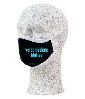 Premium Mund-Nasen-Maske mit Motiv