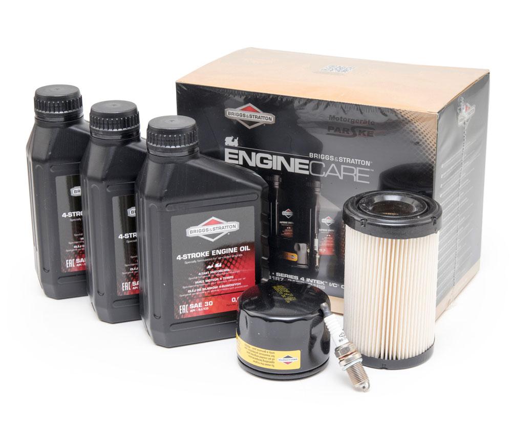 Wartungskit mit Luftfilter Öl Zündkerze passend für Briggs/&Stratton 31C777 Motor