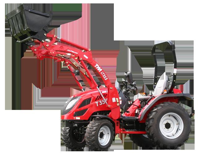 Tym traktor t353 schaltgetriebe mit zubehör kommunaltraktoren